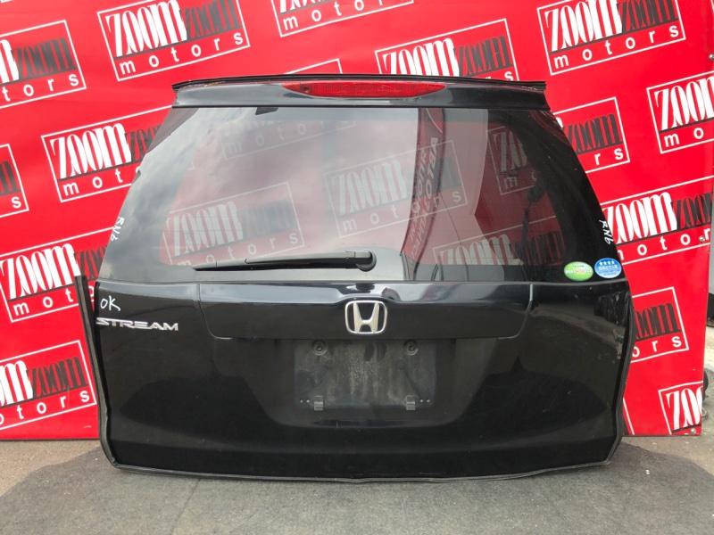 Дверь задняя багажника Honda Stream RN6 R18A 2006 черный