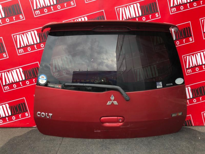 Дверь задняя багажника Mitsubishi Colt Z21A 4A90 `2002 красный