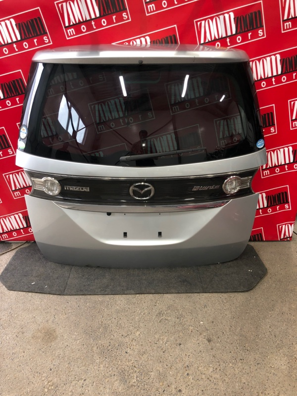 Дверь задняя багажника Mazda Biante CCEFW LF-VD 2008 серебро