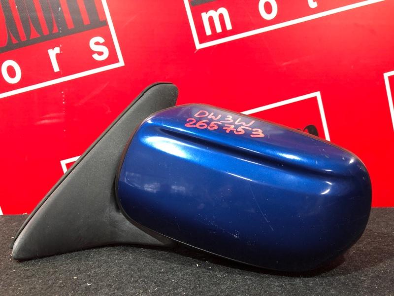Зеркало боковое Mazda Demio DW3W B3 1996 левое синий