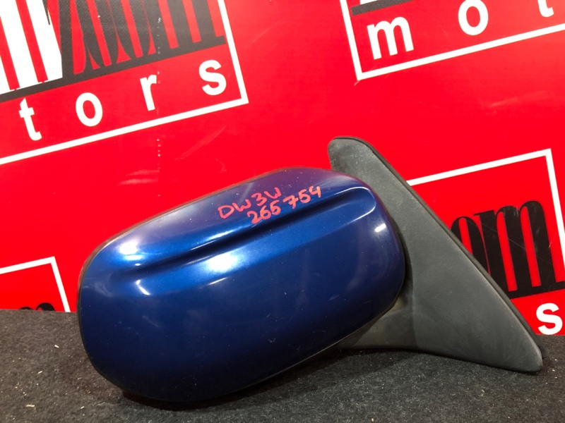 Зеркало боковое Mazda Demio DW3W B3 1996 правое синий