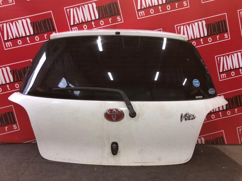 Дверь задняя багажника Toyota Vitz SCP10 1SZ-FE 1999 белый