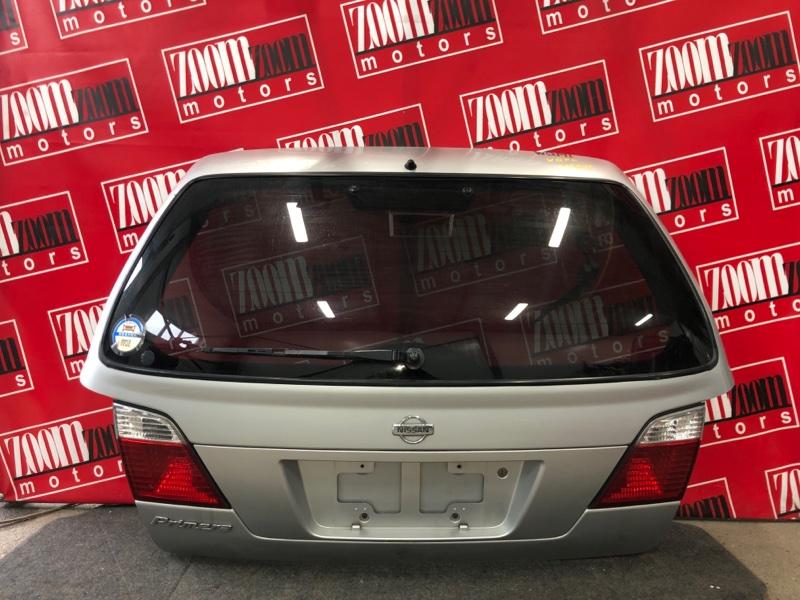 Дверь задняя багажника Nissan Primera WQP11 QG18DE 1997 серебро