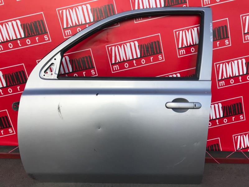 Дверь боковая Nissan March AK12 CR12DE 2002 передняя левая серебро