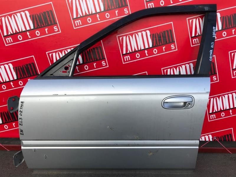 Дверь боковая Honda Orthia EL3 B20B 1996 передняя левая серебро