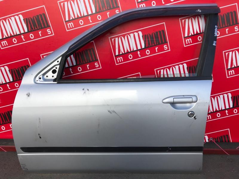 Дверь боковая Nissan Primera WQP11 QG18DE 1997 передняя левая серебро