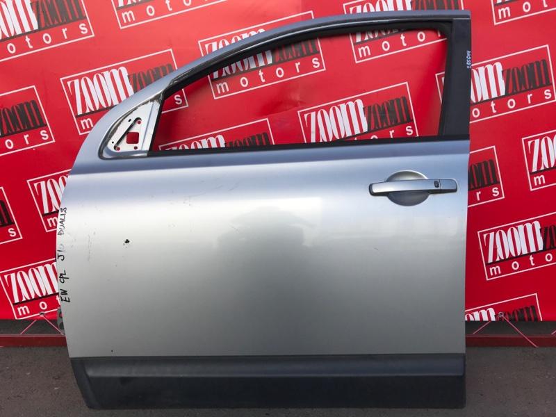 Дверь боковая Nissan Dualis J10 MR20DE 2007 передняя левая серебро