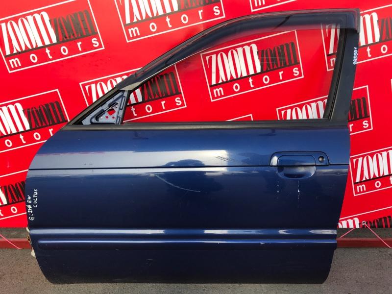Дверь боковая Suzuki Cultus GC21W G15A 1997 передняя левая синий