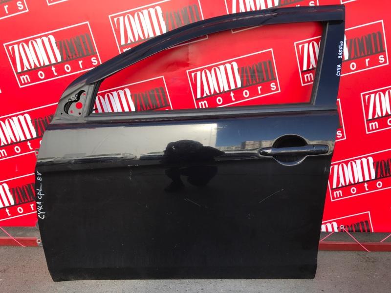 Дверь боковая Mitsubishi Lancer X CY4A 4B11 2006 передняя левая черный