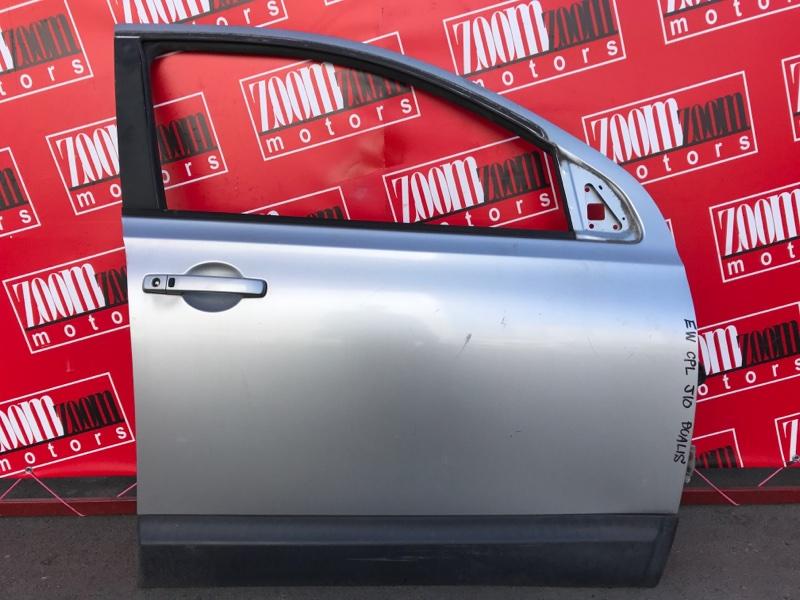 Дверь боковая Nissan Dualis J10 MR20DE 2007 передняя правая серебро