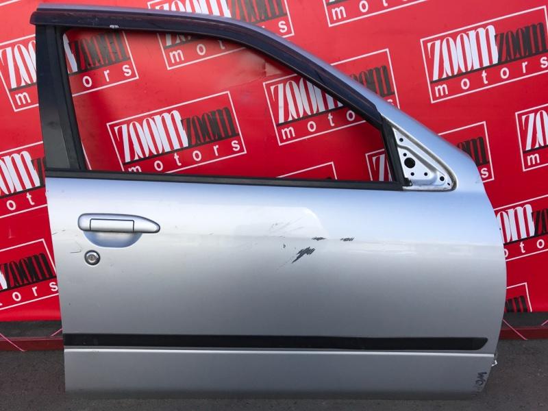 Дверь боковая Nissan Primera WQP11 QG18DE 1997 передняя правая серебро