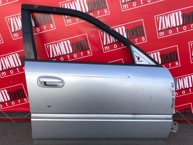 Дверь боковая Honda Orthia EL3 B20B 1996 передняя правая серебро
