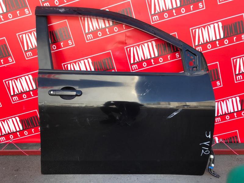 Дверь боковая Nissan Wingroad JY12 HR15DE 2005 передняя правая черный