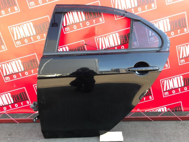Дверь боковая Mitsubishi Lancer X CY4A 4B11 2006 задняя левая черный