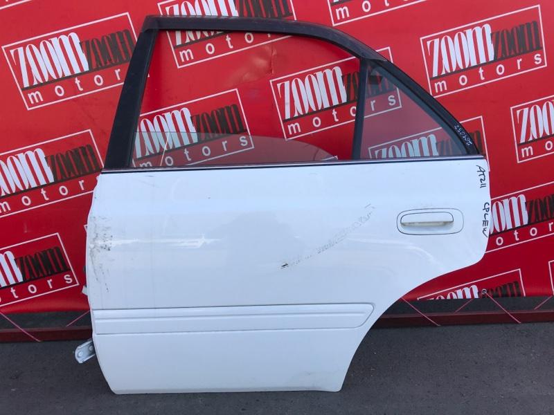 Дверь боковая Toyota Carina AT211 7A-FE 1996 задняя левая белый