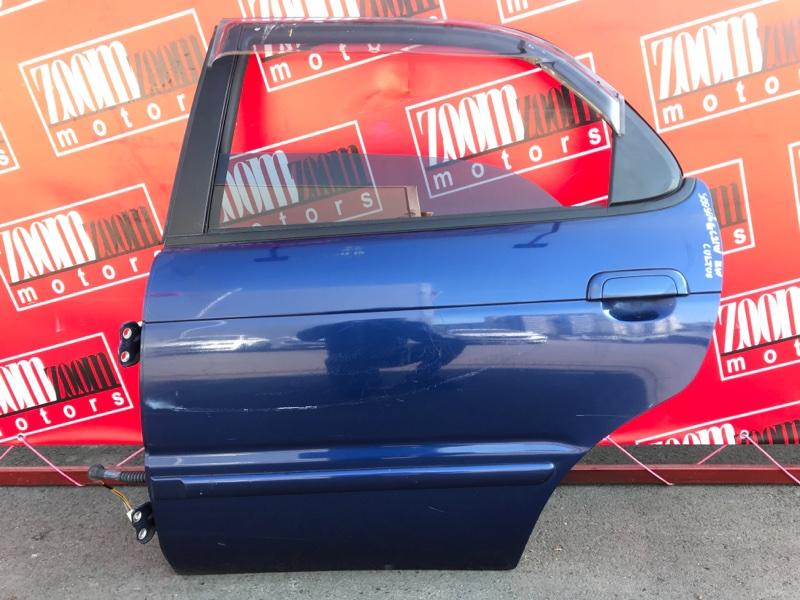 Дверь боковая Suzuki Cultus GC21W G15A 1997 задняя левая синий