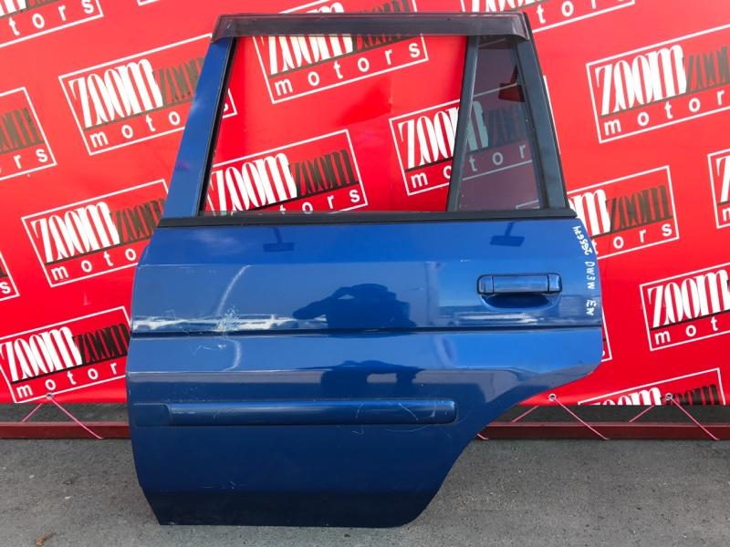 Дверь боковая Mazda Demio DW3W B3-E 1999 задняя левая синий