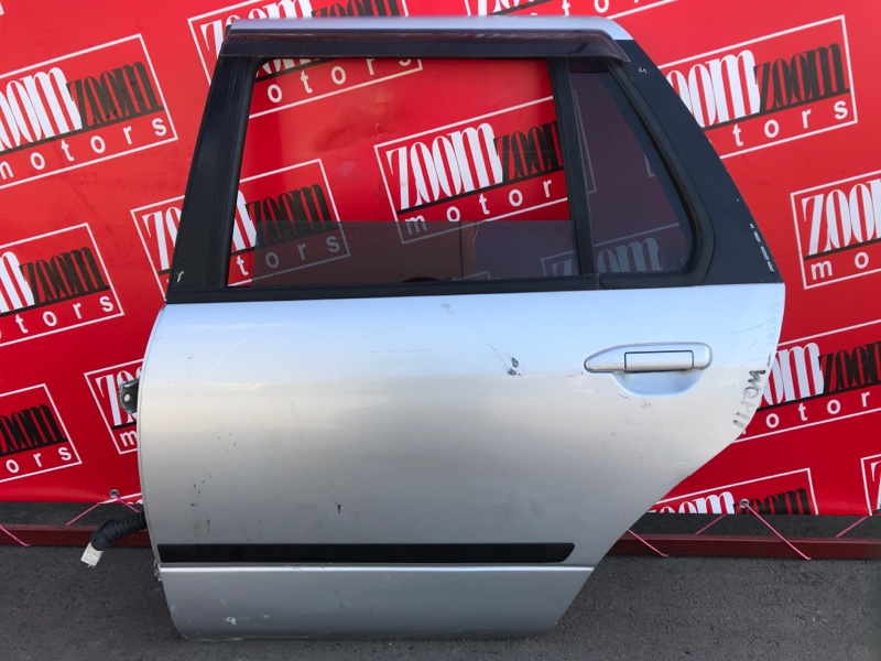 Дверь боковая Nissan Primera WQP11 QG18DE 1997 задняя левая серебро