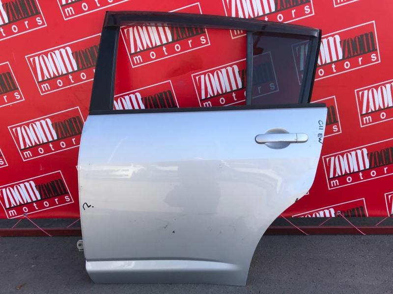 Дверь боковая Nissan Tiida C11 HR15DE 2004 задняя левая серебро