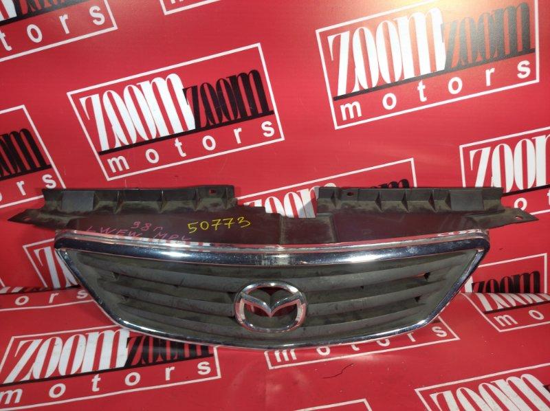 Решетка радиатора Mazda Mpv LWEW 1999 передняя серебро