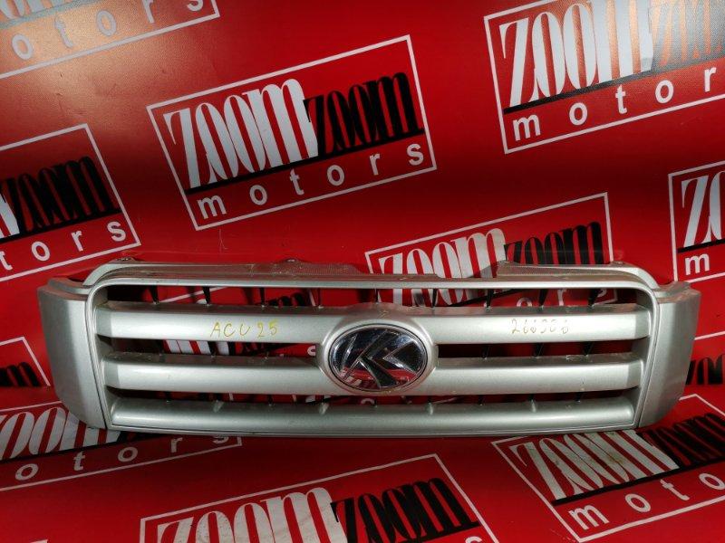Решетка радиатора Toyota Kluger V ACU25 2AZ-FE 2001 передняя серебро