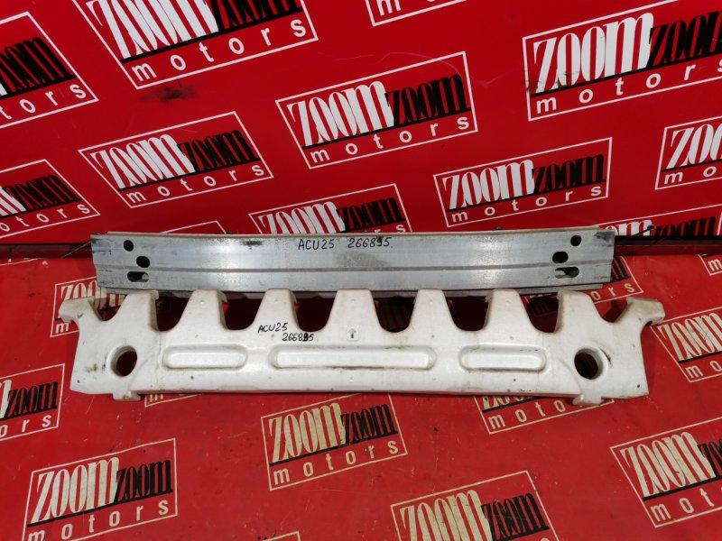 Усилитель бампера Toyota Kluger V ACU25 2AZ-FE 2001 передний серебро
