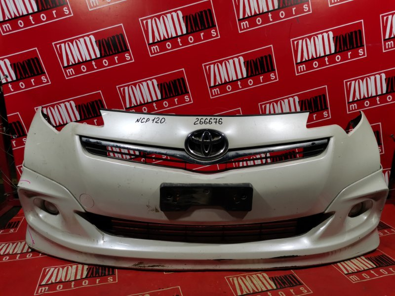 Бампер Toyota Ractis NCP120 1NZ-FE 2010 передний белый перламутр