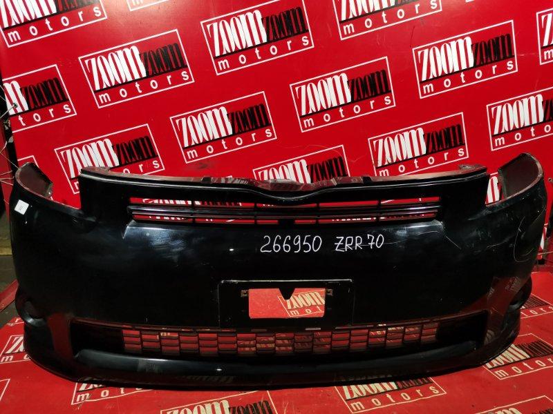 Бампер Toyota Voxy ZRR70 3ZR-FE 2007 передний черный