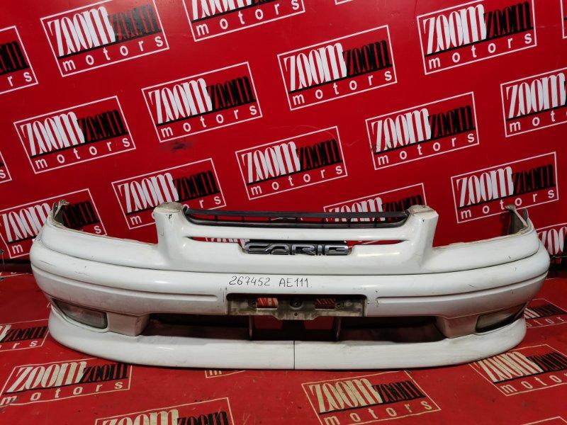 Бампер Toyota Sprinter Carib AE111 4A-FE 1999 передний белый