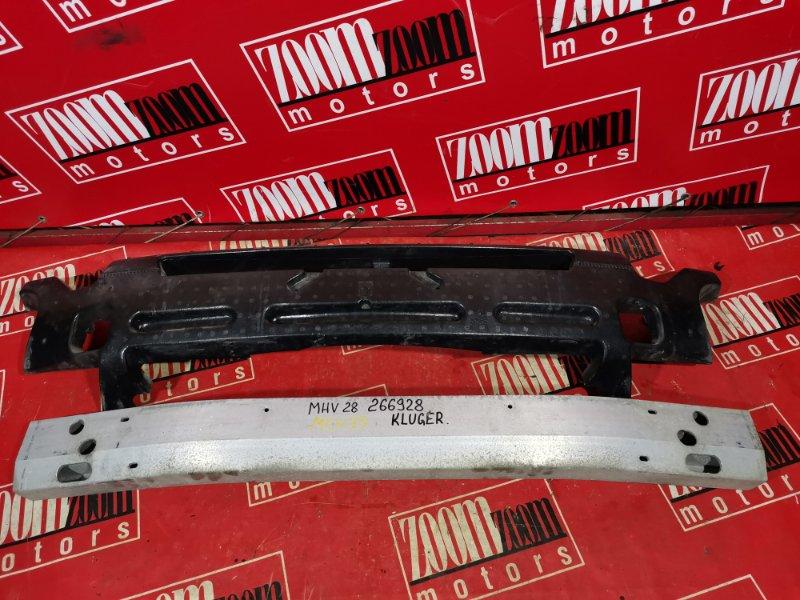 Усилитель бампера Toyota Kluger V MHU28 3MZ-FE 2001 передний черный