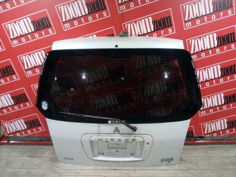 Дверь задняя багажника Mitsubishi Dingo CQ1A 4G15 2001 задняя белый перламутр