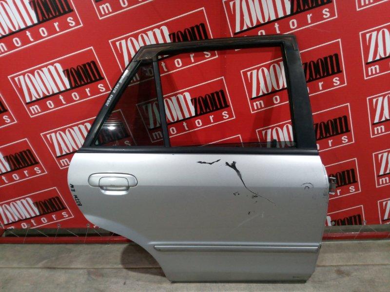 Дверь боковая Mazda Familia BJ5W ZL-DE 1998 задняя правая серебро
