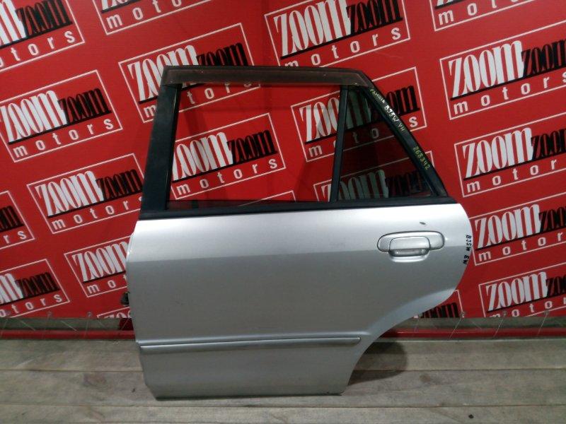 Дверь боковая Mazda Familia BJ5W ZL-DE 1998 задняя левая серебро