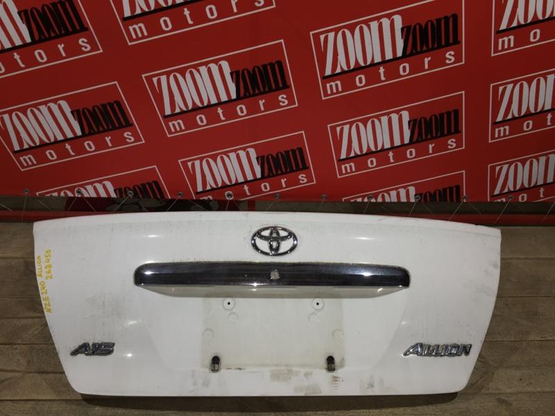 Крышка багажника Toyota Allion NZT240 1NZ-FE 2001 задняя белый
