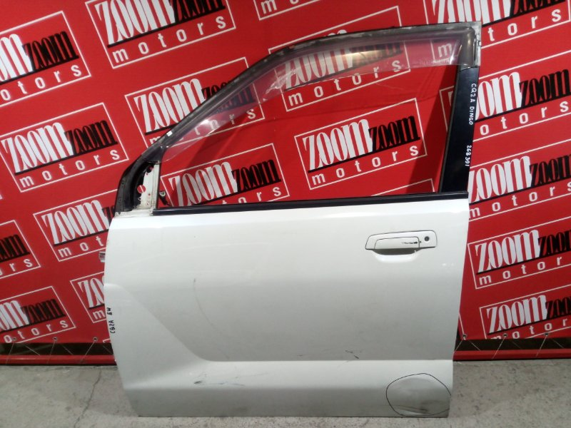 Дверь боковая Mitsubishi Dingo CQ1A 4G15 2001 передняя левая белый перламутр