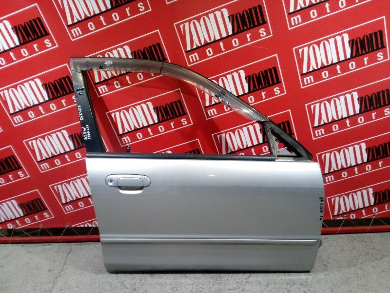 Дверь боковая Mazda Familia BJ5W ZL-DE 1998 передняя правая серебро