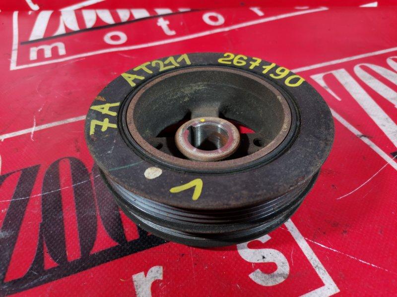 Шкив коленвала Toyota Corona Premio AT211 7A-FE 2000