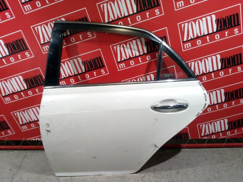 Дверь боковая Toyota Mark X GRX120 4GR-FSE 2004 задняя левая белый перламутр