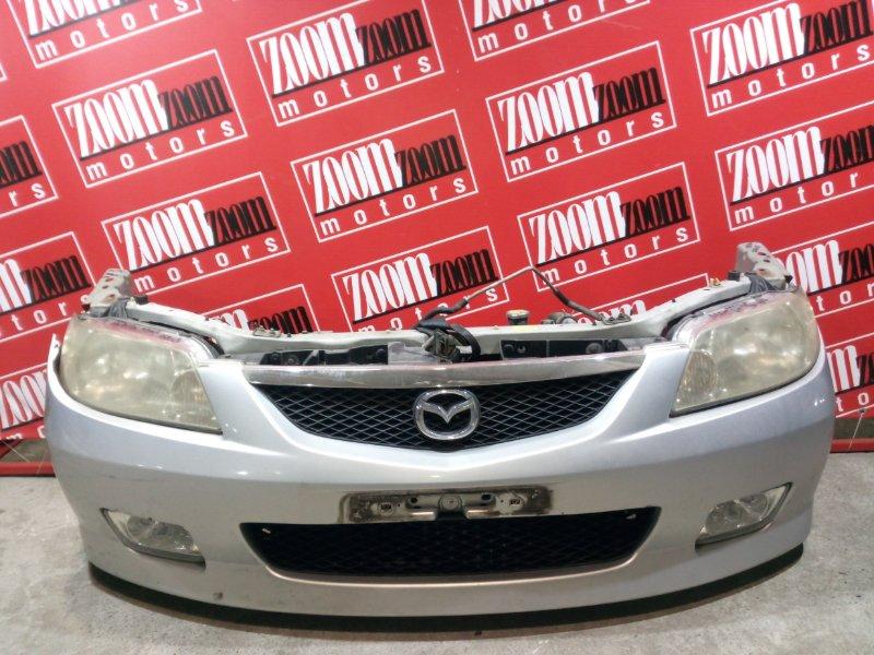 Бампер Mazda Familia BJ5W ZL-DE 2000 передний серебро