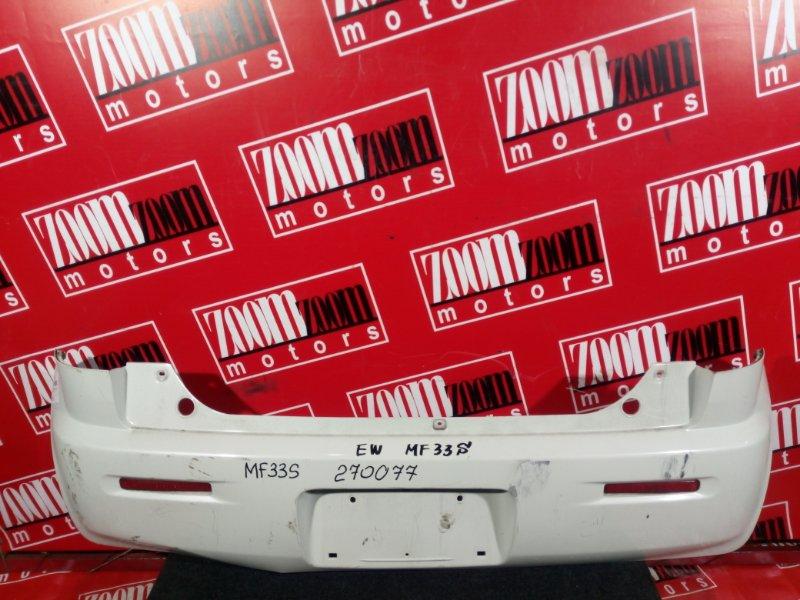 Бампер Suzuki Mr Wagon MF33S R06A 2013 задний белый перламутр