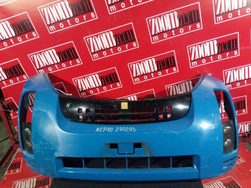 Бампер Toyota Will Cypha NCP70 1NZ-FE 2000 передний голубой