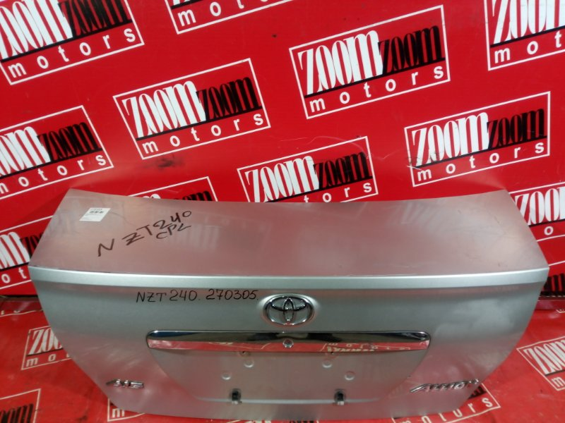 Крышка багажника Toyota Allion NZT240 1NZ-FE 2001 задняя серебро
