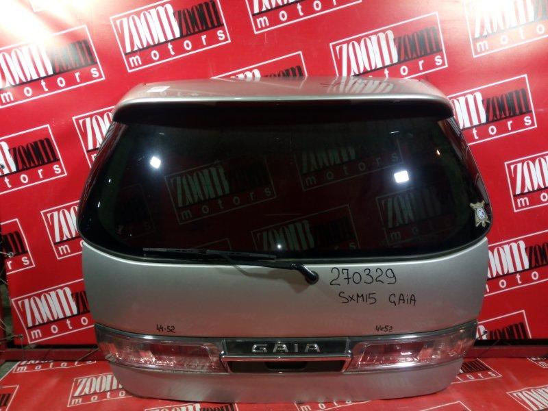 Дверь задняя багажника Toyota Gaia SXM10 3S-FE 1996 задняя серебро