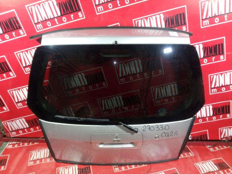 Дверь задняя багажника Mitsubishi Dingo CQ2A 4G15 1998 задняя серебро