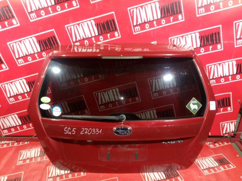 Дверь задняя багажника Subaru Forester SG5 EJ20 2002 задняя вишневый