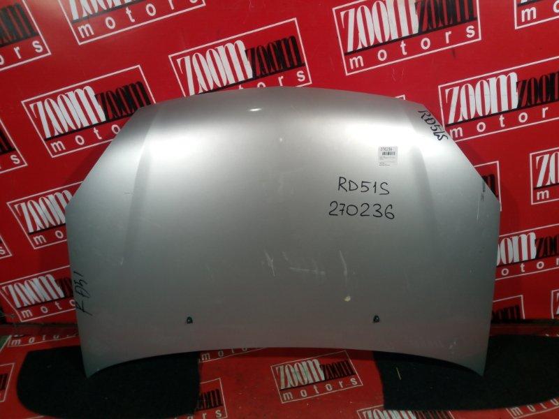 Капот Suzuki Aerio RD51S M15A 2003 передний серебро