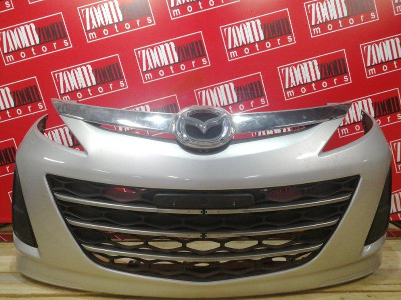 Бампер Mazda Biante CCEFW LF-VD 2008 передний серебро