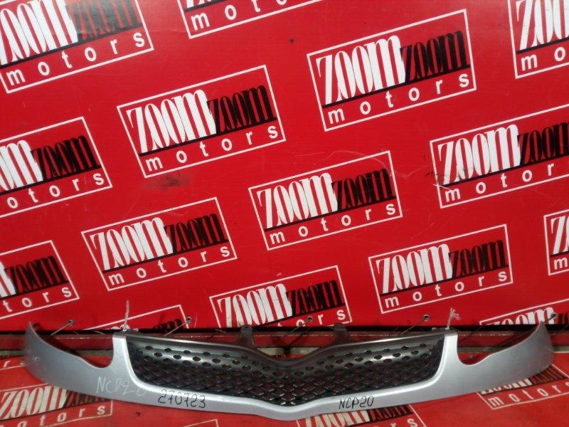 Планка под фару Toyota Funcargo NCP20 1NZ-FE 2002 передняя серебро