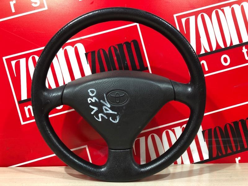 Руль Toyota Vista SV30 4S-FE 1990 коричневый