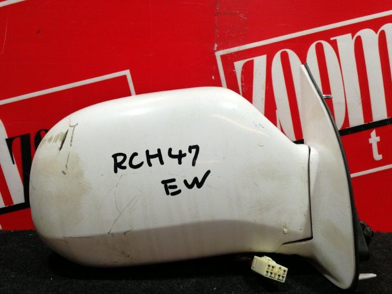 Зеркало боковое Toyota Hiace Regius RCH47W 3RZ-FE 1997 правое белый